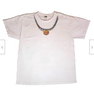 Vtg Fruit of the Loom Budweiser Necklace T - XL